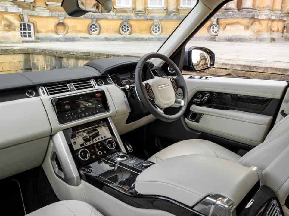 interior of a Range Rover Sport