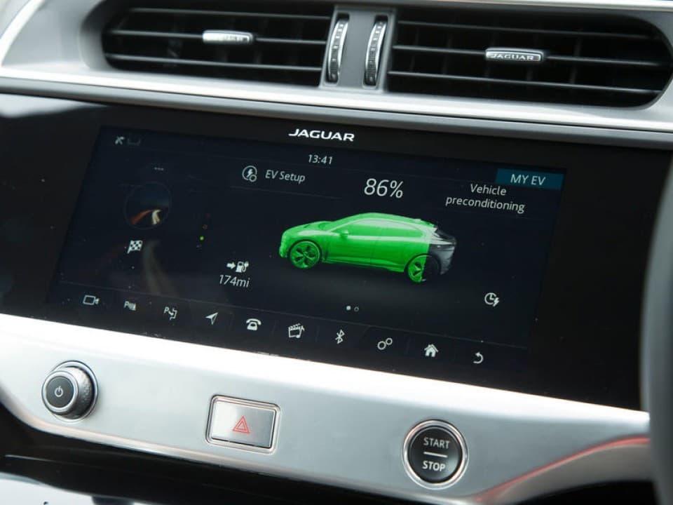 jaguar i pace battery status